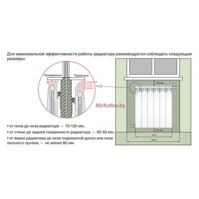 Купить Биметаллические радиаторы отопления BiLUX Plus R200  5 в Минске с доставкой по Беларуси