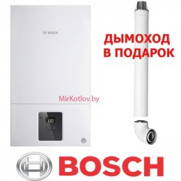 Газовый котел Bosch Gaz 2000 W WBN 24 CRN (двухконтурный котел, закрытая камера)