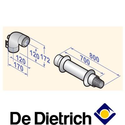 Коаксиальный дымоход De Dietrich DY 908 (60/100 мм, 800 мм)