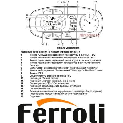 Купить Газовый котел Ferroli Divatech D H F32 (одноконтурный котел, закрытая камера)  3 в Минске с доставкой по Беларуси