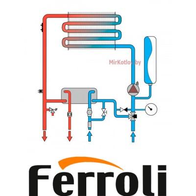 Газовый котел Ferroli Divatech D F37 (двухконтурный котел, закрытая камера)