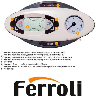 Купить Газовый котел Ferroli Divabel F10 (двухконтурный котел, закрытая камера)  2 в Минске с доставкой по Беларуси