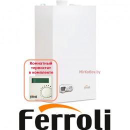 Газовый котел Ferroli Fortuna F10 с термостатом (двухконтурный котел, закрытая камера)