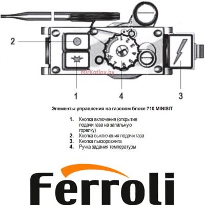 Купить Напольный газовый котел Ferroli Torino 20 (энергонезависимый, одноконтурный, атмосферный)  3 в Минске с доставкой по Беларуси