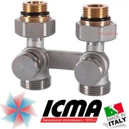 """Двухтрубный клапан для стального радиатора прямой 1/2"""" ICMA"""
