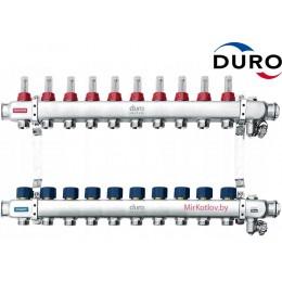 Коллектор (Гребенка) Duro D/S-RN-OP из нержавеющей стали, 10 выходов