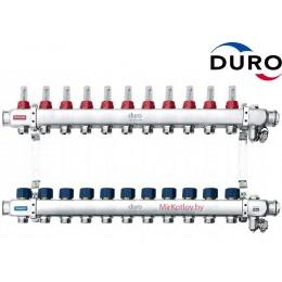 Коллектор (Гребенка) Duro D/S-RN-OP из нержавеющей стали, 11 выходов