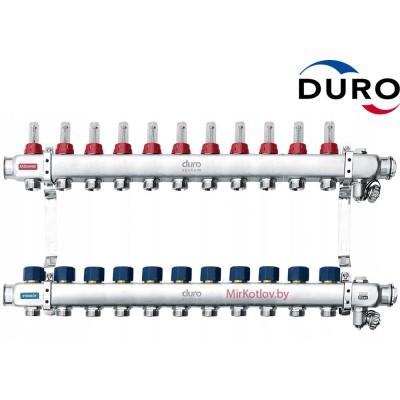 Коллектор (Гребенка) Duro D/S-RN-OP из нержавеющей стали, 11 выхода