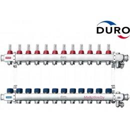 Коллектор (Гребенка) Duro D/S-RN-OP из нержавеющей стали, 12 выходов