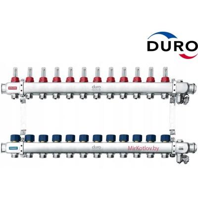 Коллектор (Гребенка) Duro D/S-RN-OP из нержавеющей стали, 12 выхода
