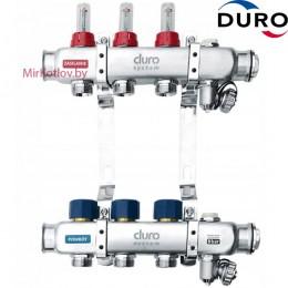 Коллектор (Гребенка) Duro D/S-RN-OP из нержавеющей стали, 3 выхода