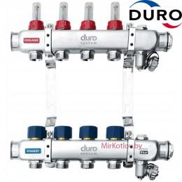 Коллектор (Гребенка) Duro D/S-RN-OP из нержавеющей стали, 4 выхода