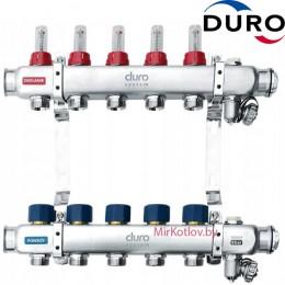 Коллектор (Гребенка) Duro D/S-RN-OP из нержавеющей стали, 5 выходов