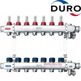 Коллектор (Гребенка) Duro D/S-RN-OP из нержавеющей стали, 7 выходов