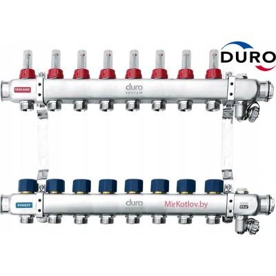 Коллектор (Гребенка) Duro D/S-RN-OP из нержавеющей стали, 8 выходов