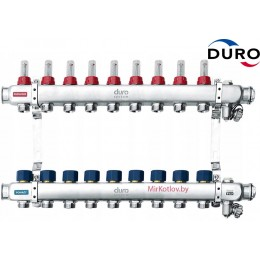 Коллектор (Гребенка) Duro D/S-RN-OP из нержавеющей стали, 9 выходов