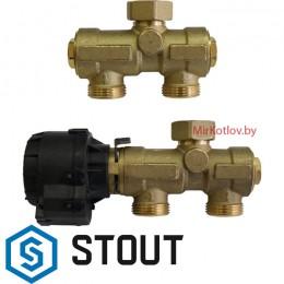STOUT Комплект трехходового клапана для котла + бойлера (SFB-0001-000001)