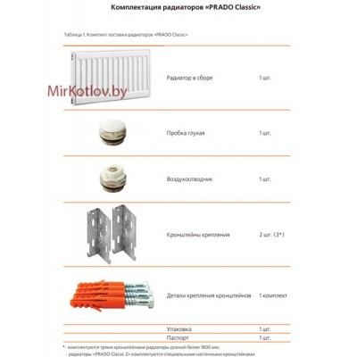 Купить Стальной панельный радиатор Prado Classic тип 11 300x1600  2 в Минске с доставкой по Беларуси