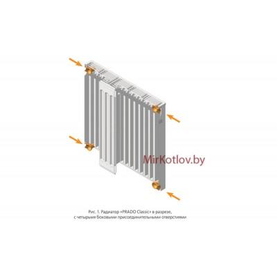 Купить Стальной панельный радиатор Prado Classic тип 11 300x1600  4 в Минске с доставкой по Беларуси