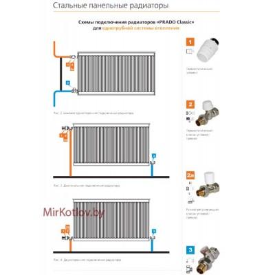 Купить Стальной панельный радиатор Prado Classic тип 22 300x600  2 в Минске с доставкой по Беларуси