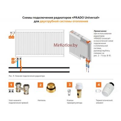 Стальной панельный радиатор Prado Universal тип 22 300x1300 (нижнее подключение)
