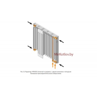 Стальной панельный радиатор Prado Universal тип 22 300x600 (нижнее подключение)