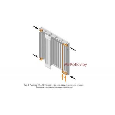 Стальной панельный радиатор Prado Universal тип 11 500x700 (нижнее подключение)