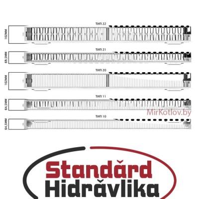 Стальной панельный радиатор STANDARD HIDRAVLIKA 22 300x400 (боковое подключение)