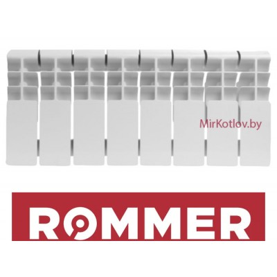 Купить Алюминиевый радиатор Rommer Plus 200 (10 секций)  1 в Минске с доставкой по Беларуси