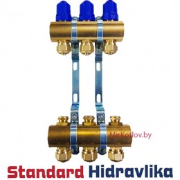 """Гребенка (Коллектор) для радиаторов отопления STH 1""""х3/4""""-10 выходов"""