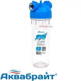 """Магистральный фильтр Аквабрайт Slim Line АБФ-10-34 (3/4"""")"""