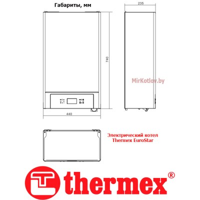 Купить Электрический котел Thermeх Eurostar E 915 (15 кВт, трехфазный)  3 в Минске с доставкой по Беларуси