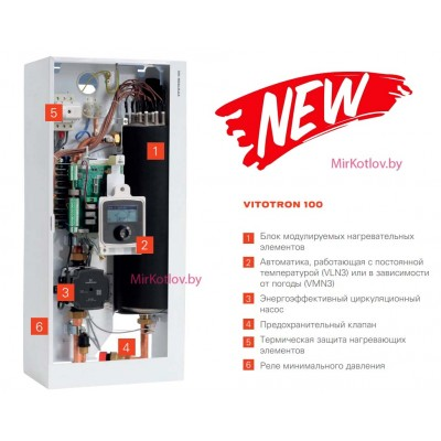 Купить Электрический котел Viessmann Vitotron 100 VMN3 - 08  3 в Минске с доставкой по Беларуси