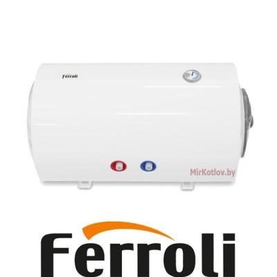 Электрический накопительный водонагреватель Ferroli E-glasstech HBO80 (Горизонтальный)