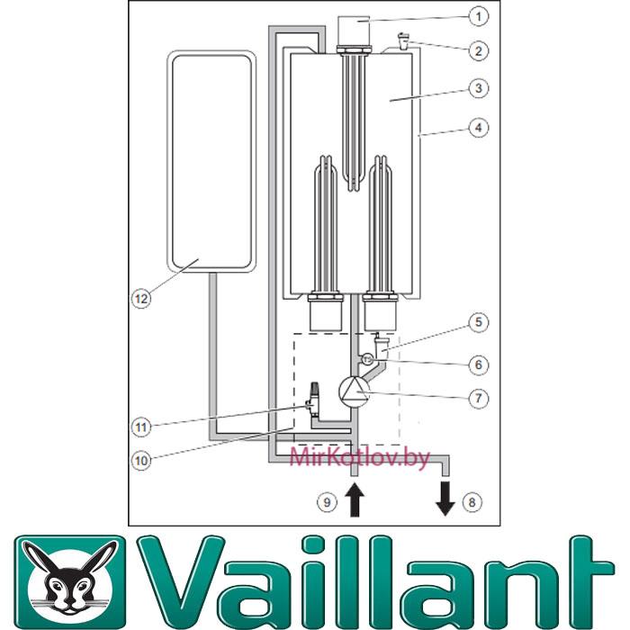 настенный котел Vaillant - схема